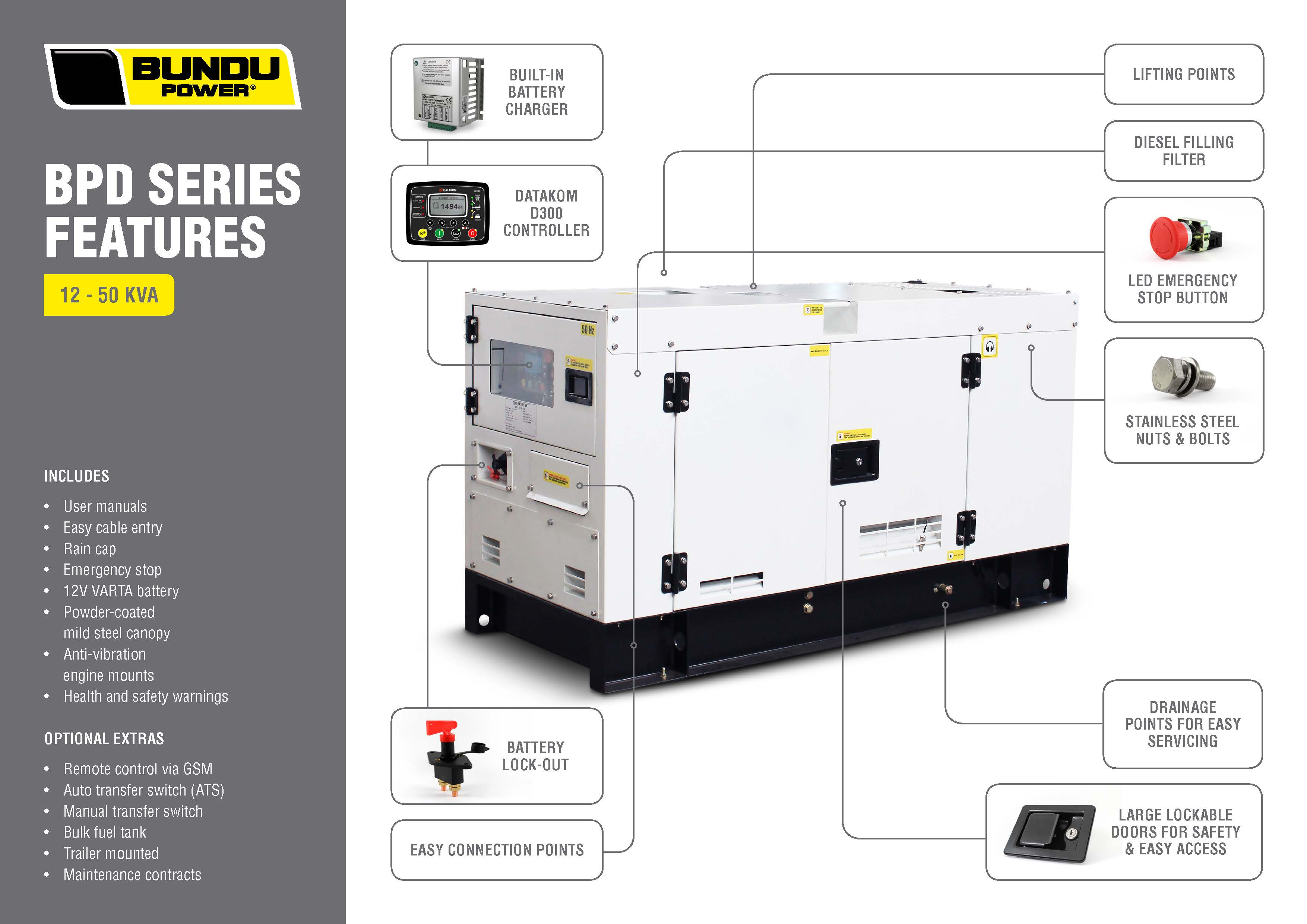 Bundu Power Bpd50s3 Diesel Generators