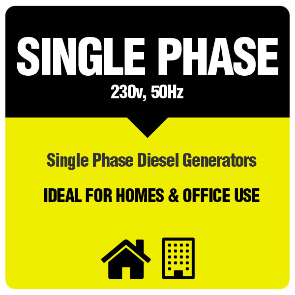 Single Phase Generators for home and office use